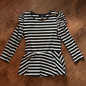 Black & White stripped top